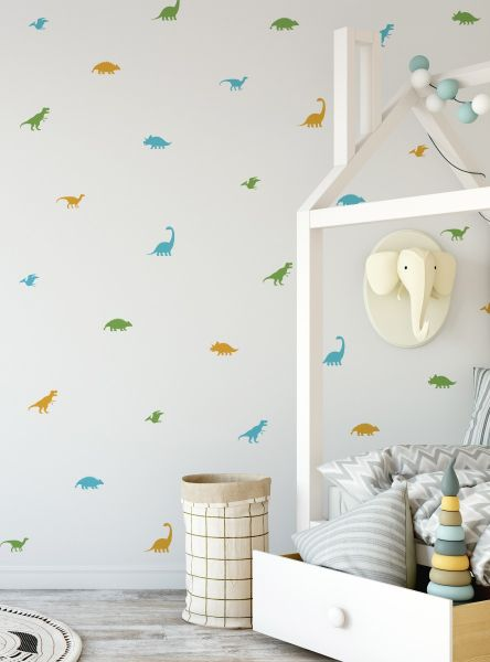 Dinosaur Wall Decal - Dino Shapes - Scheme A