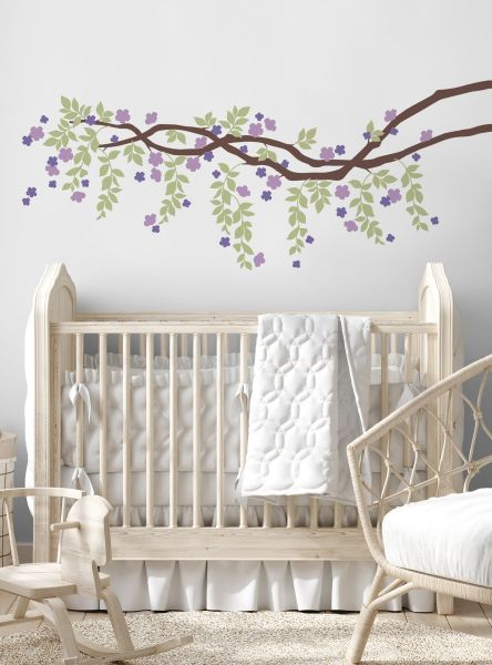 Cherry Blossom Branch Vines Decal - Scheme A