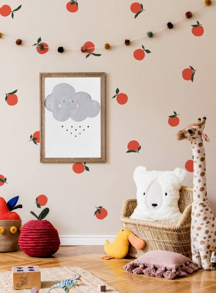 Orange Fruit Wall Decal - Scheme A