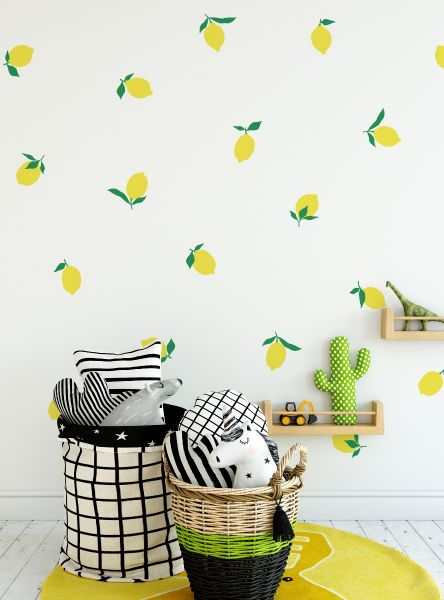 Lemon Fruit Wall Decal - Scheme A