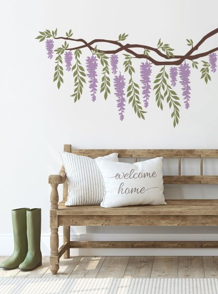 Wisteria Branch Vines Decal - Scheme A