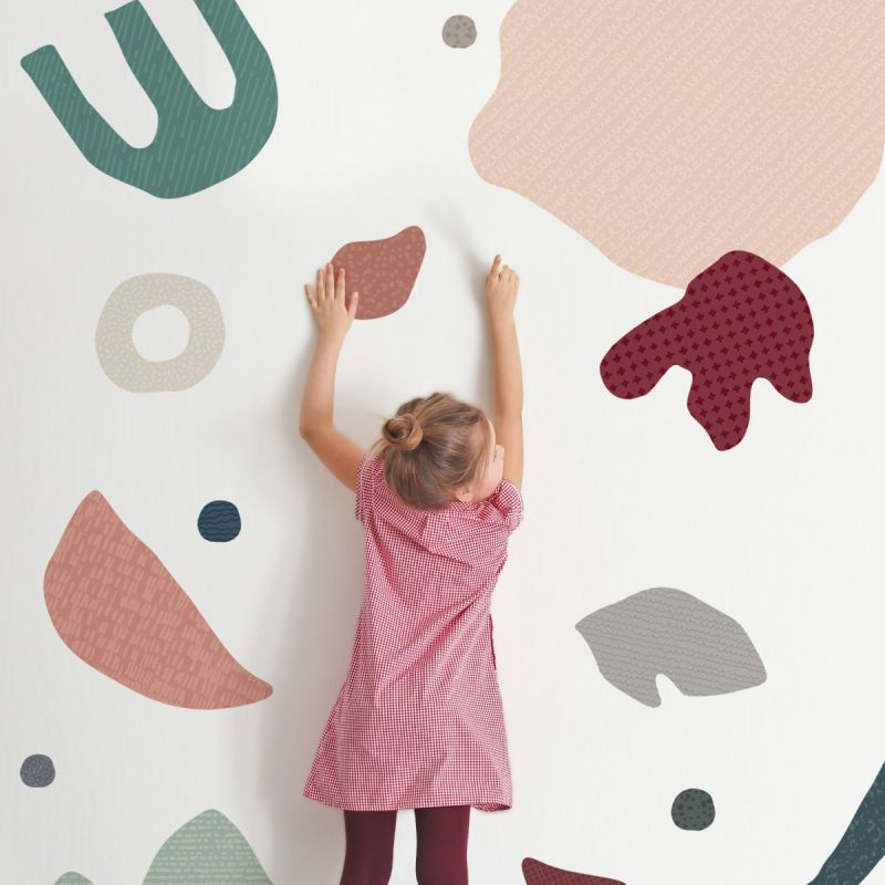 Abstract Organic Shapes Peel and Stick Wall Sticker - Beach