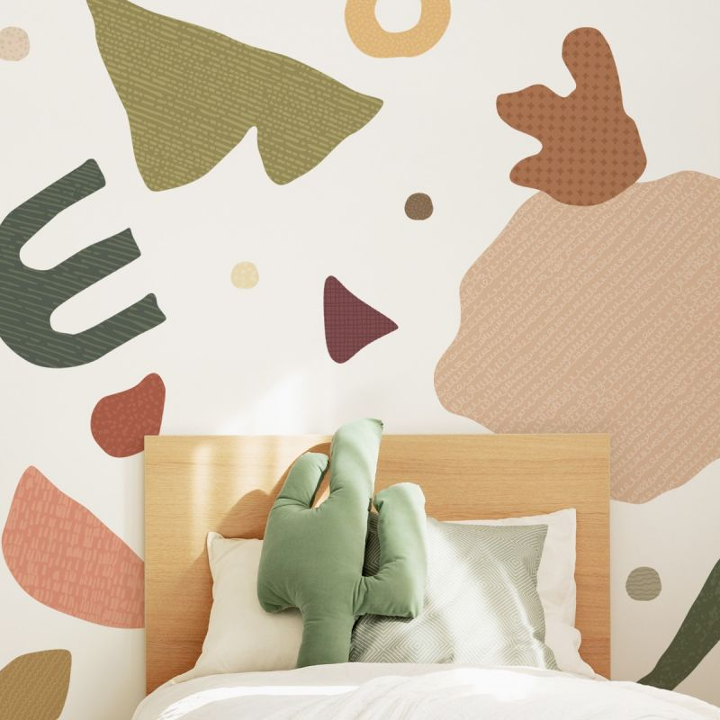 Abstract Organic Shapes Peel and Stick Wall Sticker