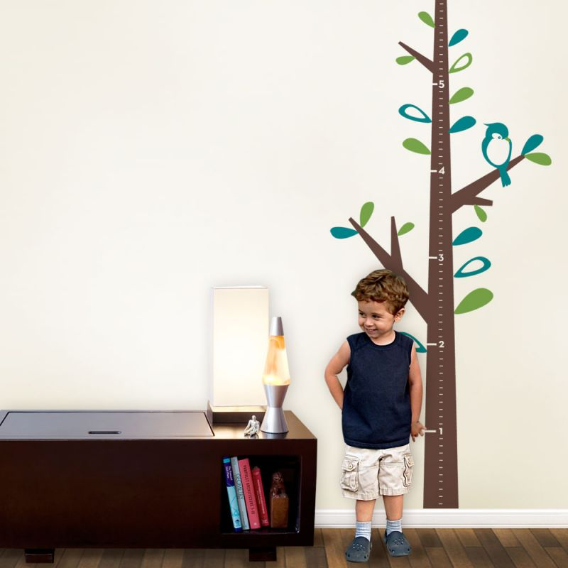 Growth Chart Tree Wall Decal - Scheme A