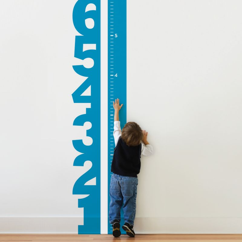 Numbers Growth Chart Wall Decal - Scheme A