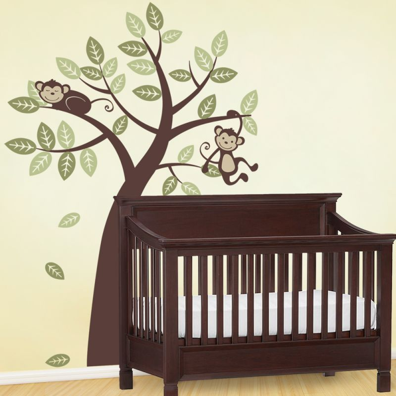 Monkey Tree Wall Decal - Scheme A
