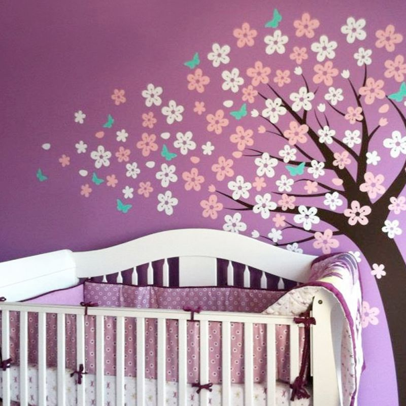 Cherry Blossom Tree Wall Decal - Scheme A