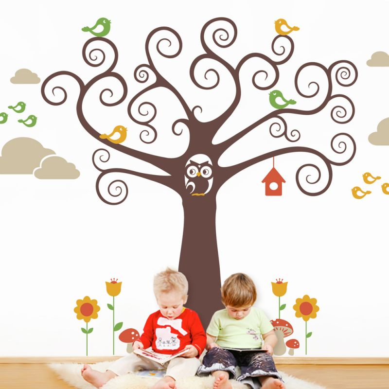 Wonderland Kids Tree Wall Decal