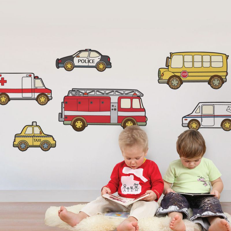 Emergency and Service Vehicle Wall Sticker