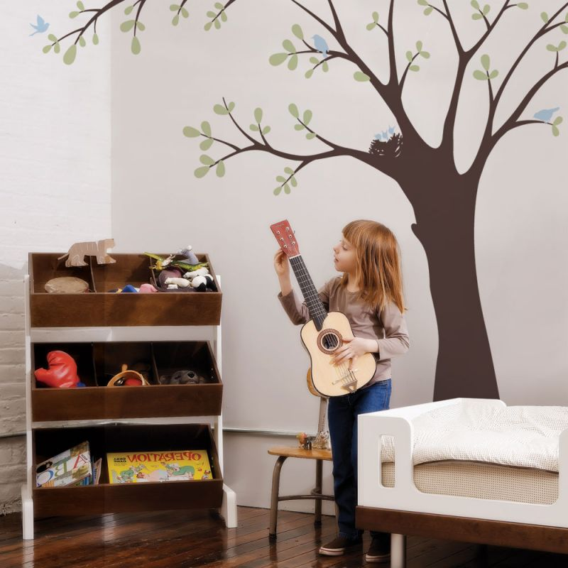 Ceiling Tree with Birds and Nest Wall Decal - Scheme A