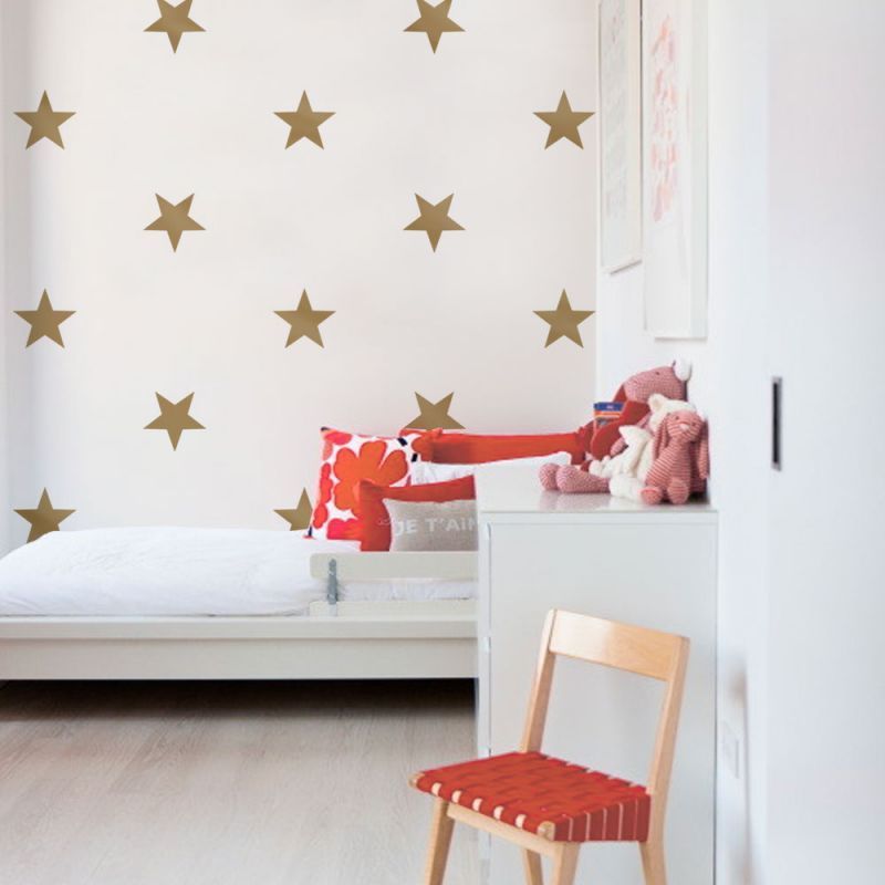 Large Stars Wall Decals - Gold