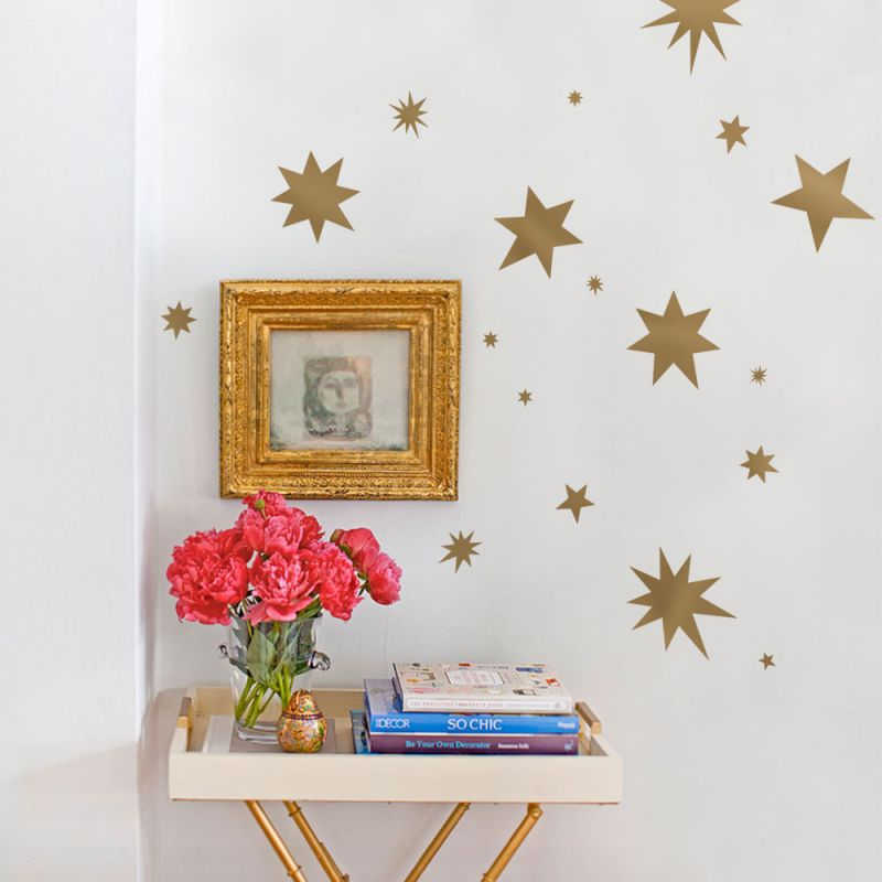 Spontaneous Stars Wall Decal - Gold