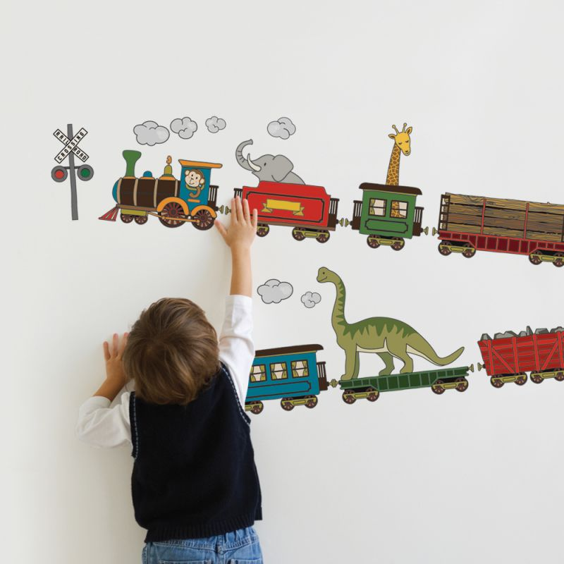 Animal Trains Wall Sticker