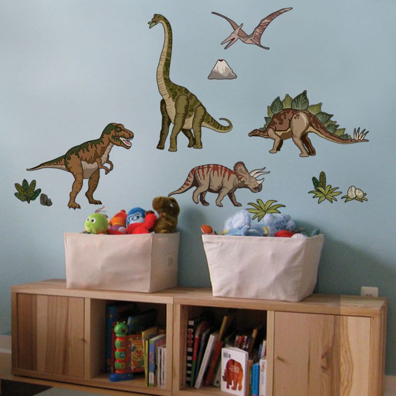 Dinosaurs Wall Sticker - Natural