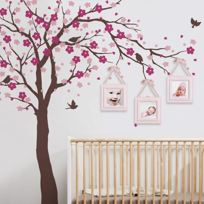 Cherry Blossom Ceiling Style Wall Decal - Scheme A