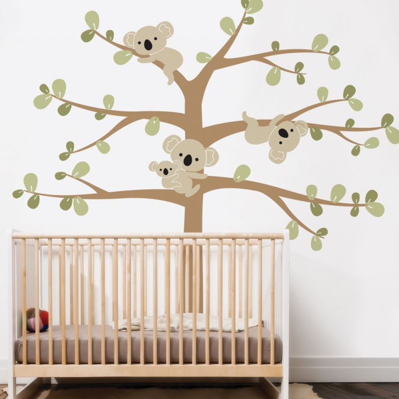 Tree with Koalas Wall Decal - Scheme A