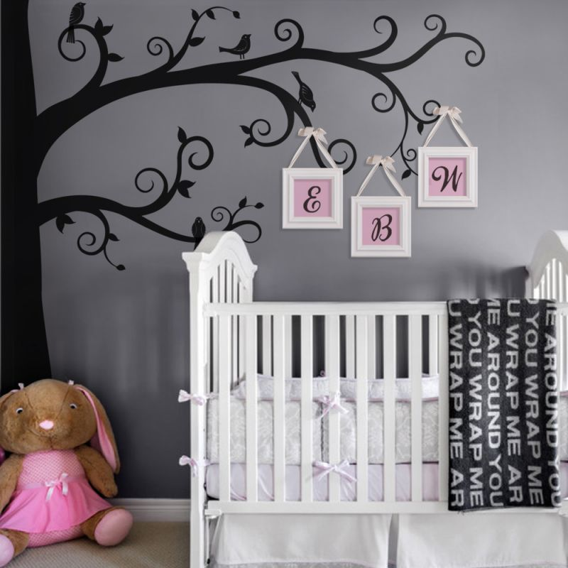 Corner Tree Wall Decal - Scheme A