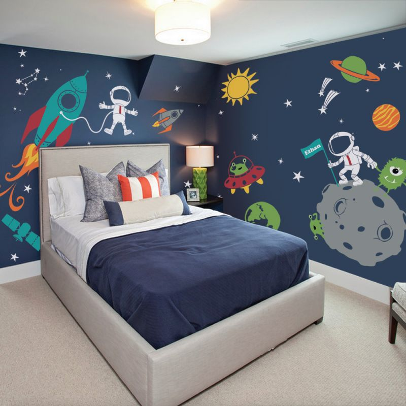 Outer Space Wall Decal - Scheme A