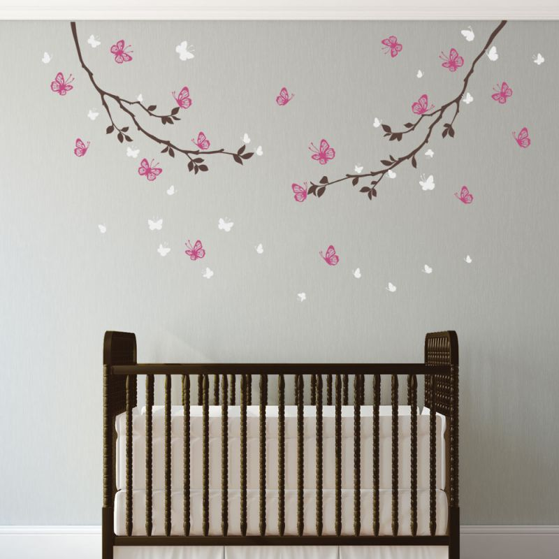 Butterfly Branches Wall Decal - Scheme A