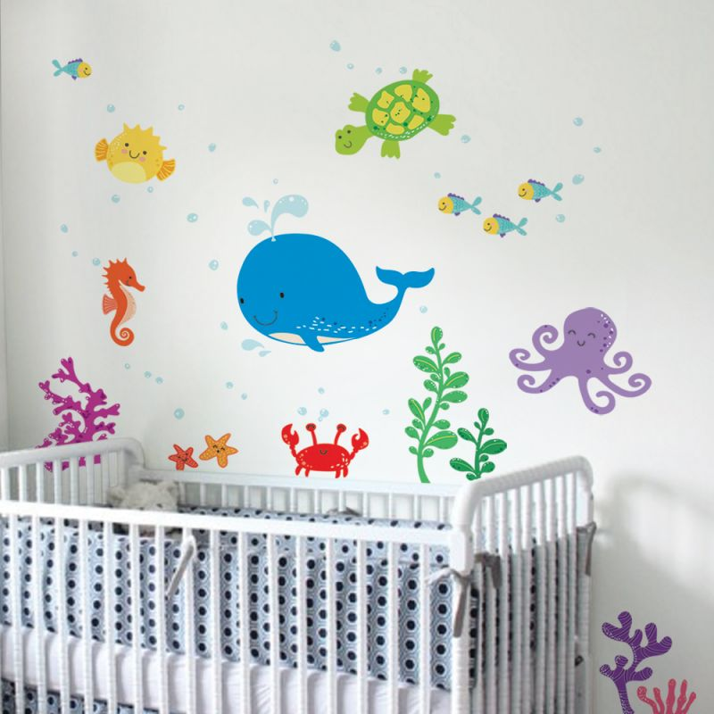 Under the Sea Wall Stickers - Blue