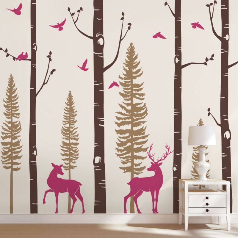 Nursery Birch Tree Wall Decals