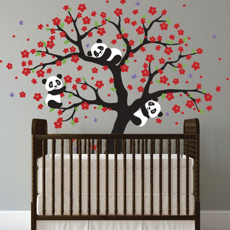Baby Pandas Tree Wall Decal