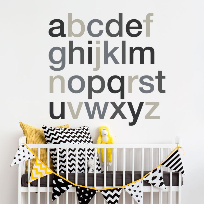 Playroom Alphabet Wall Decals