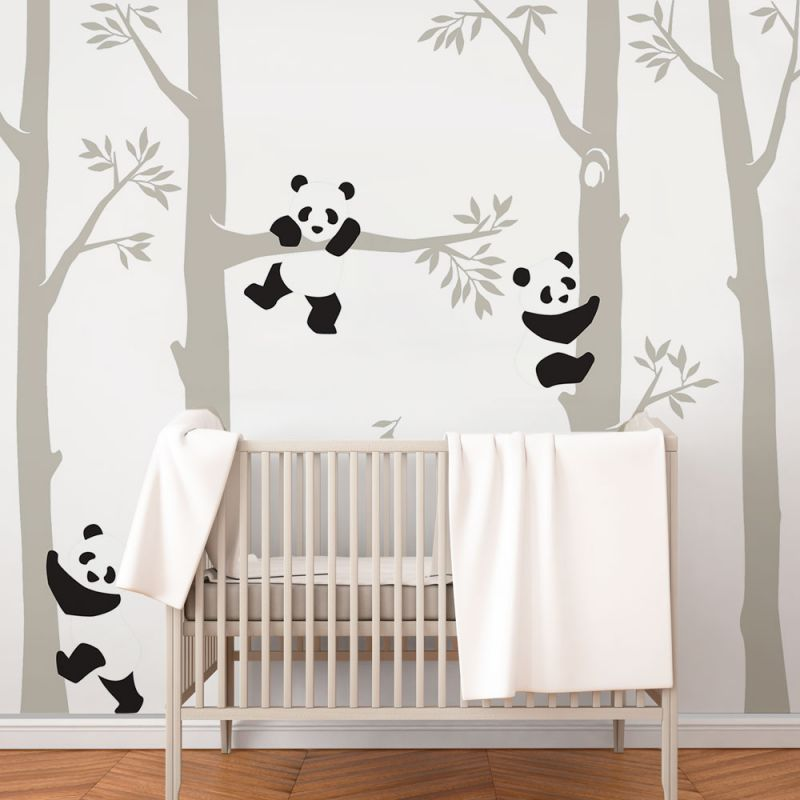 Trees with Pandas Wall Decal
