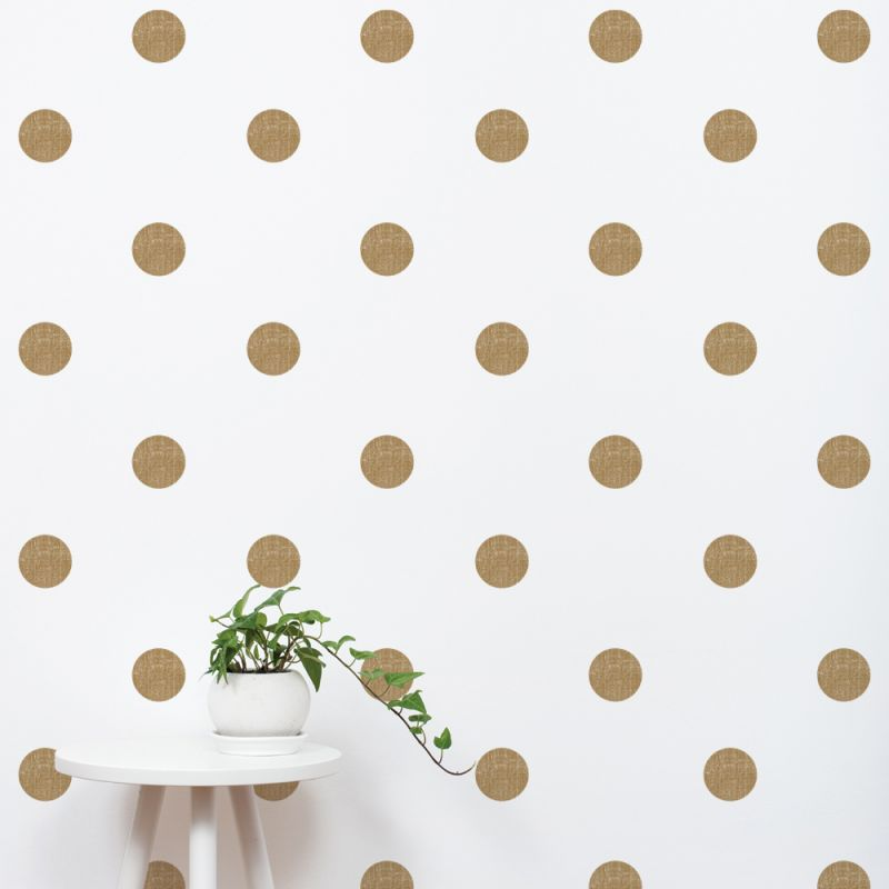 Gold Textured Dots Wall Stickers