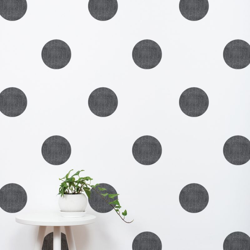 Black Textured Dots Wall Stickers