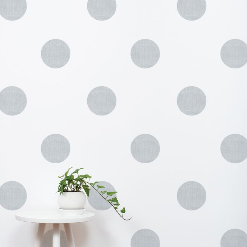 Grey Textured Dots Wall Stickers