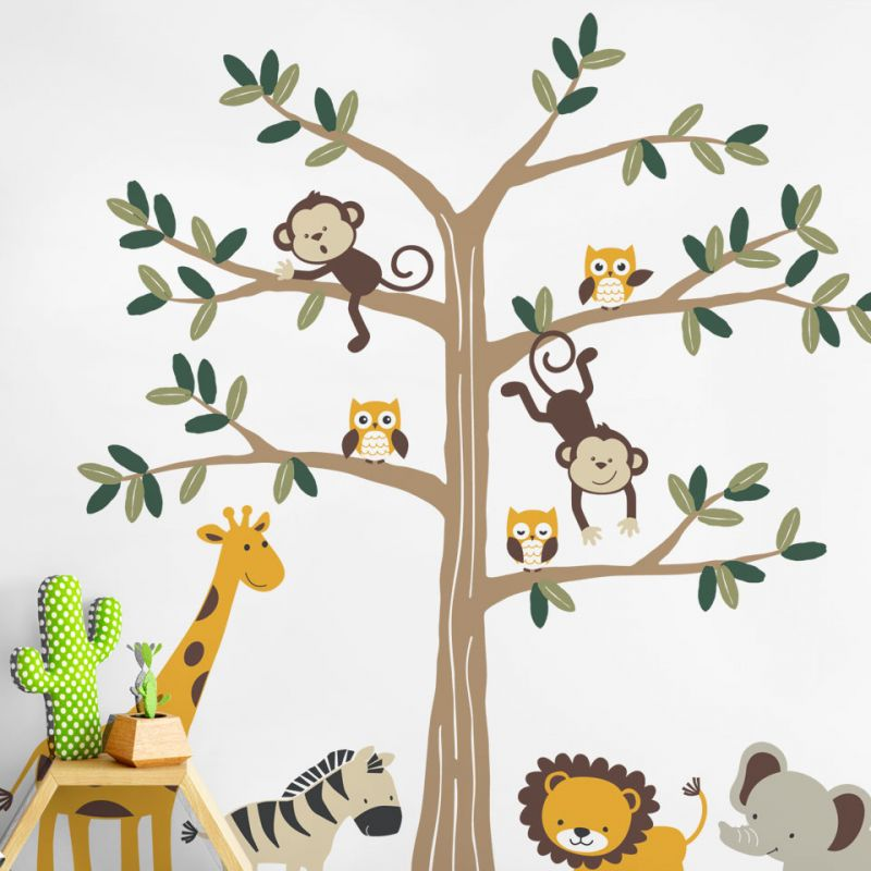 Safari Themed Nursery Wall Decal