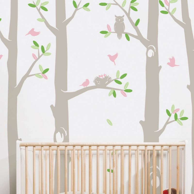 Nature Tree Scene Wall Decal