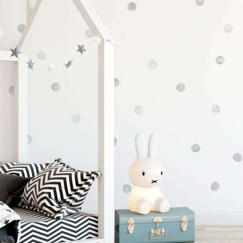 Watercolor Dots Wall Stickers - Grey