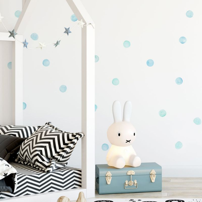 Mint Watercolor Dots Wall Stickers