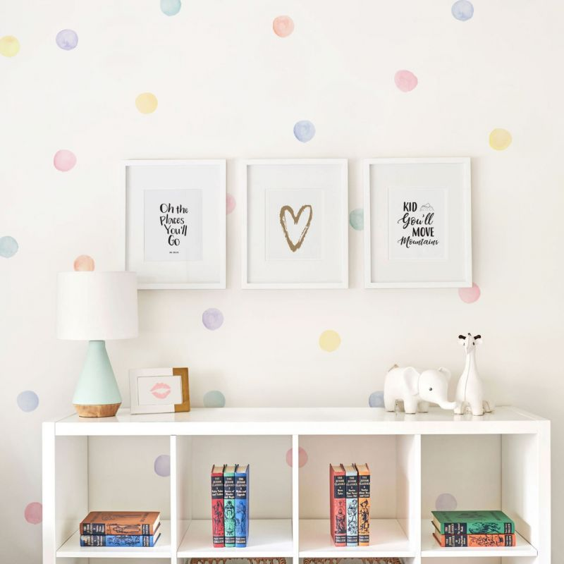 Watercolor Dots Wall Stickers - Pastel
