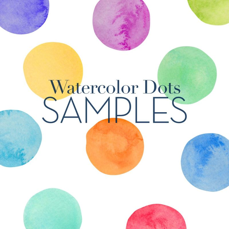 Watercolor Dots Wall Stickers - Sample Swatches