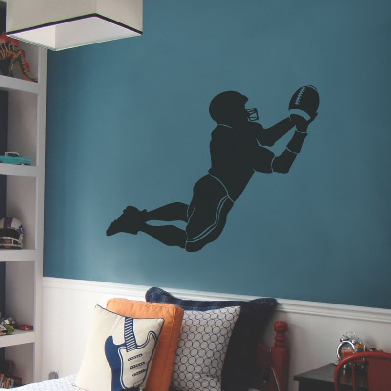Sports Silhouette Wall Decal, Sports Wall Decal- Football