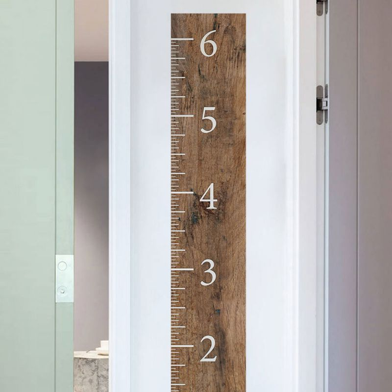 Wooden Growth Chart Ruler - Brown