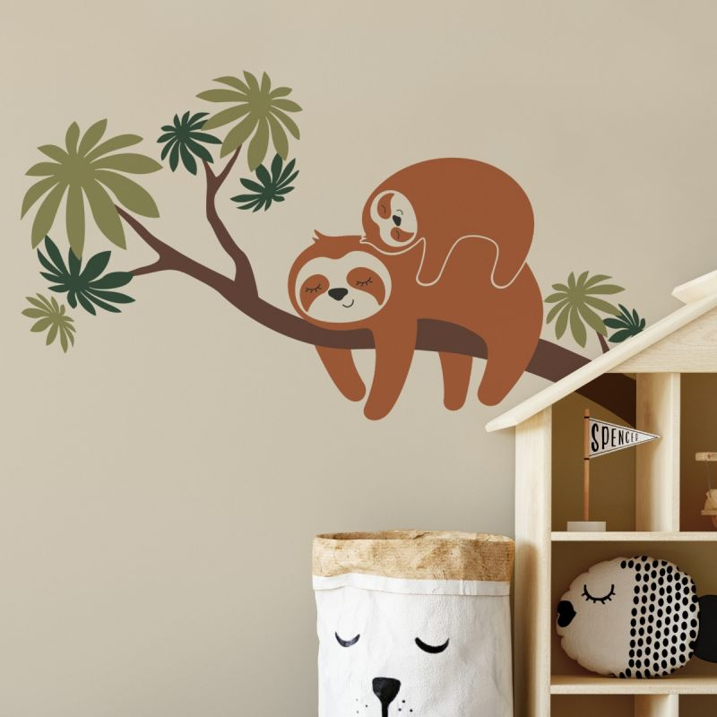 Sloth On A Tree Branch Wall Decal