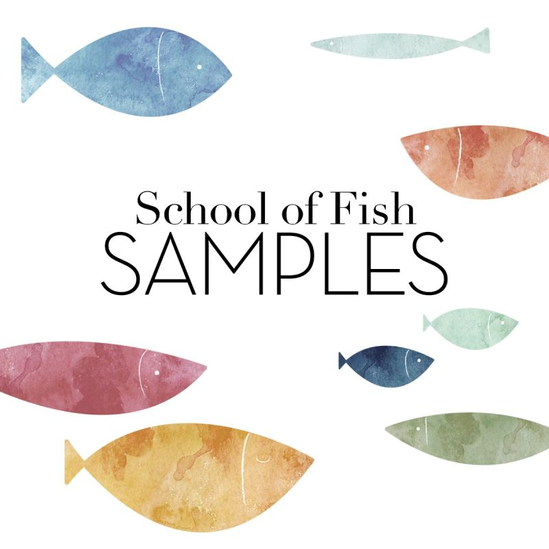 School of Fish Wall Stickers Samples