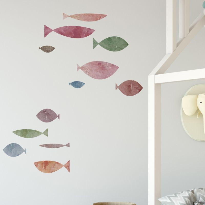 School of Fish Wall Stickers - Sunset Beach