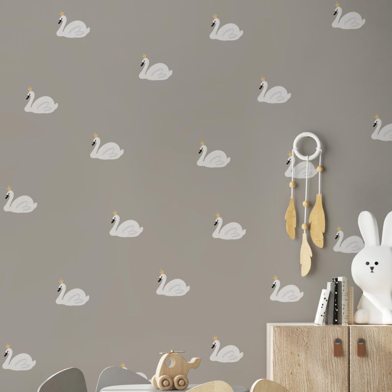 Swan Lake Wall Sticker - Peel and Stick - White Swan