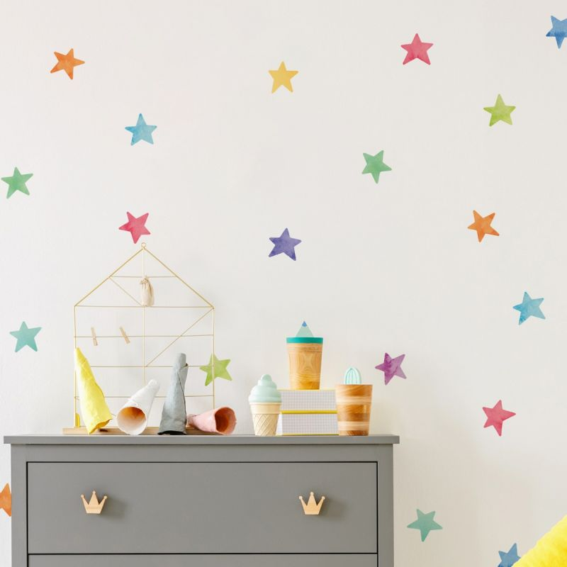 Watercolor Stars Wall Stickers