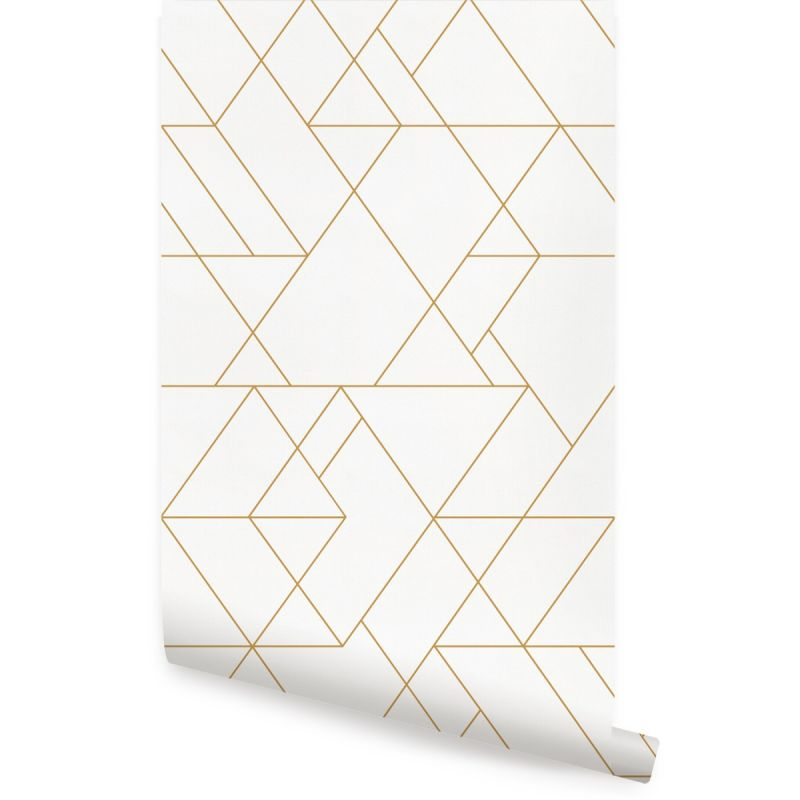 Triangle Geometric Art Deco Lines - Off White