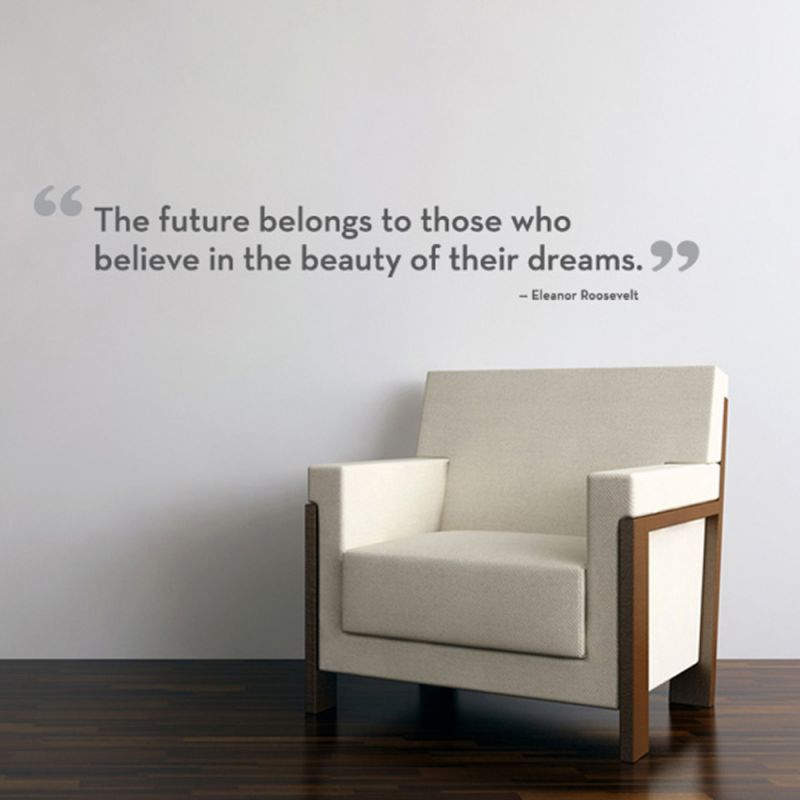 The Future Belongs Quote Wall Decal - Scheme A