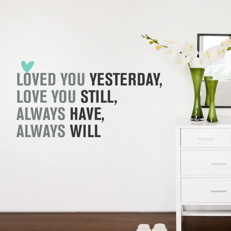 Love You Always Quote Wall Decal - Scheme A