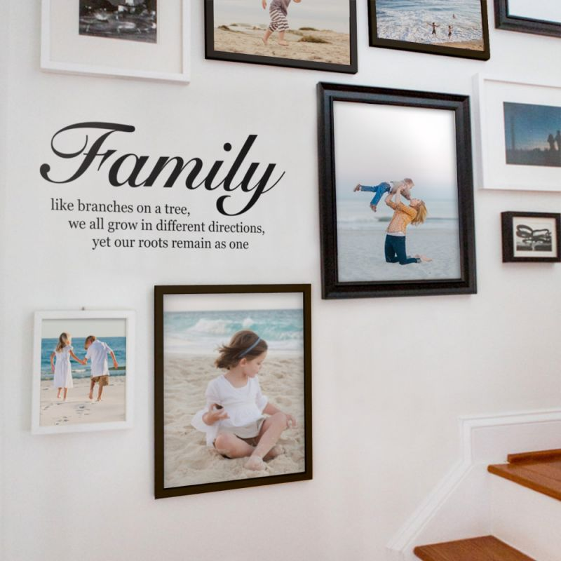 Family Like Branches Quote Wall Decal - Black