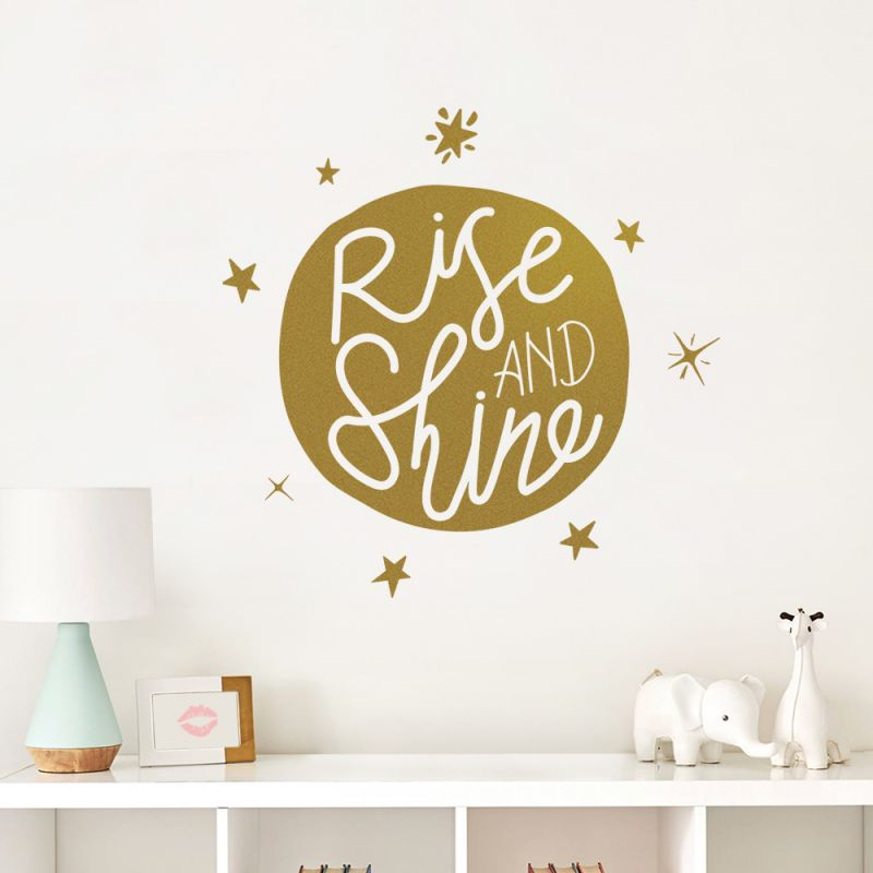 Rise and Shine Wall Decal - Gold