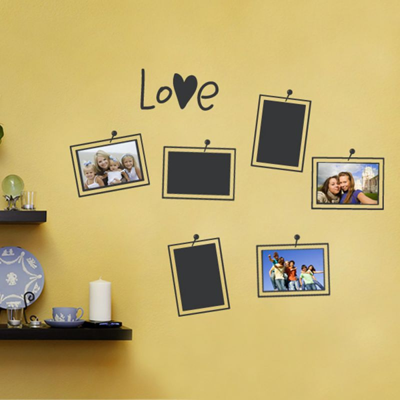 Photo Frames Love Wall Decal - Black